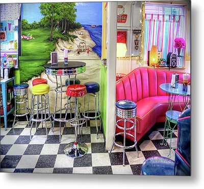 The Ice Cream Shoppe In Duval, Wa Metal Print by Greg Sigrist