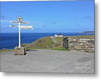 The Iconic Lands End Metal Print by Terri Waters