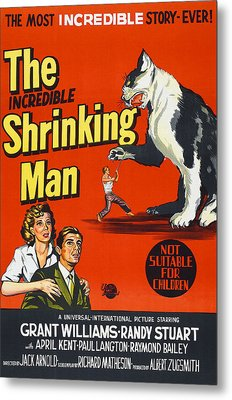 The Incredible Shrinking Man, Bottom Metal Print by Everett