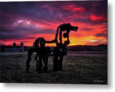 The Iron Horse Sun Up Metal Print