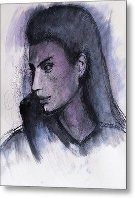 Metal Print featuring the drawing The Islander by Jarko Aka Lui Grande