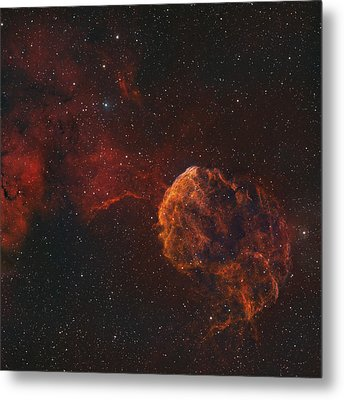The Jellyfish Nebula Metal Print by Rolf Geissinger