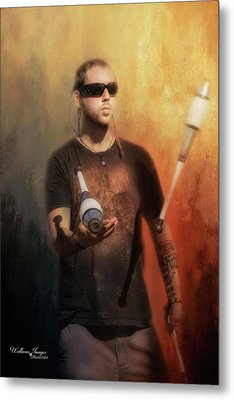 Metal Print featuring the photograph The Juggler by Wallaroo Images