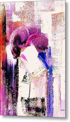 The Kiss Metal Print by VIVA Anderson