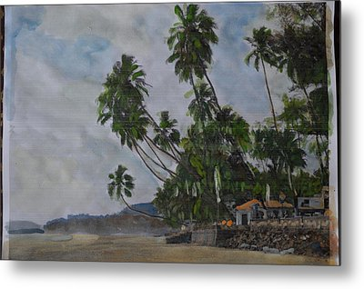 The Konkan Coastline Metal Print by Vikram Singh