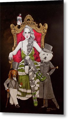 The Lady Of Erstwhile And The Royal Guard Metal Print