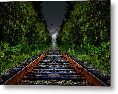 Metal Print featuring the photograph The Last Train Ride by Gary Smith