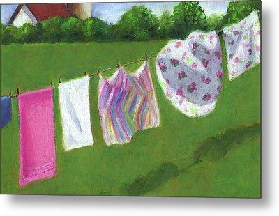 The Laundry On The Line Metal Print by Joyce Geleynse