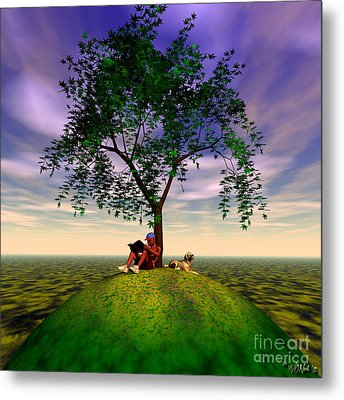 The Learning Tree Metal Print by Walter Oliver Neal