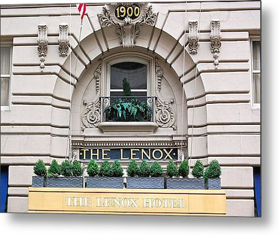 The Lenox Hotel - Boston Ma Metal Print by Mary McAvoy