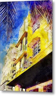 The Leslie Hotel South Beach Metal Print by Jon Neidert
