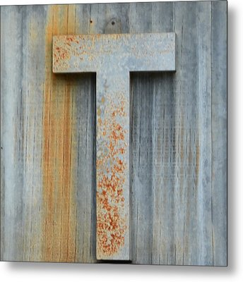 The Letter T Metal Print by Nikki Marie Smith