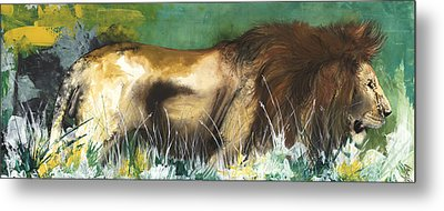 The Lion Metal Print by Anthony Burks Sr