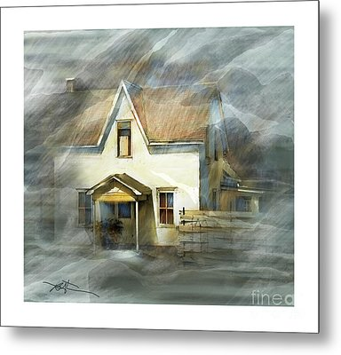 The Little White House On Hwy 6 Metal Print by Bob Salo