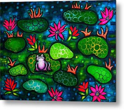 The Lonesome Frog Metal Print by Brenda Higginson