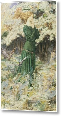 The Lover's World Metal Print by Eleanor Fortescue-Brickdale