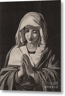 The Madonna In Prayer Metal Print by Il Sassoferrato