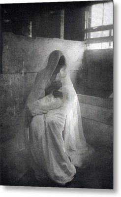 The Manger, By Gertrude Kasebier, Shows Metal Print by Everett