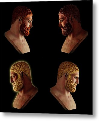 The Many Faces Of Hercules 2 Metal Print