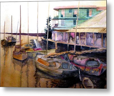 Metal Print featuring the painting The Marina by Jim Phillips