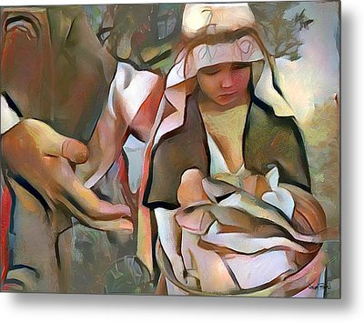 The Master's Hands - Provider Metal Print by Wayne Pascall