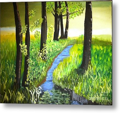 Metal Print featuring the painting The Meadow by Rod Jellison