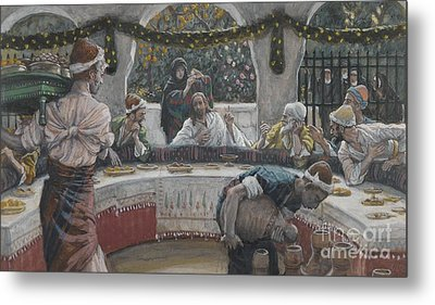 The Meal In The House Of The Pharisee Metal Print by Tissot