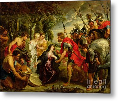 The Meeting Of David And Abigail Metal Print by Peter Paul Rubens