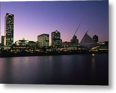 The Milwaukee Skyline At Twilight Metal Print by Medford Taylor