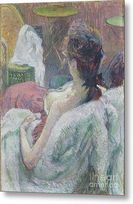 The Model Resting By Henri De Toulouse-lautrec Metal Print by Esoterica Art Agency