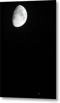 Metal Print featuring the photograph The Moon And Jupiter by Mark Dodd