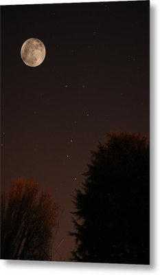 The Moon And Ursa Major Metal Print