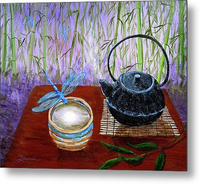 The Moon In A Teacup Metal Print by Laura Iverson