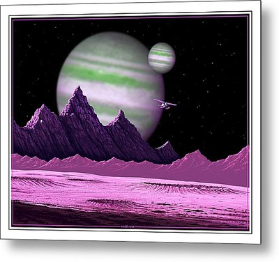 The Moons Of Meepzor Metal Print by Scott Ross