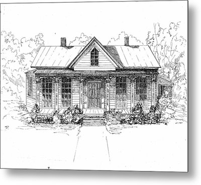 The Moore House Metal Print by Barney Hedrick
