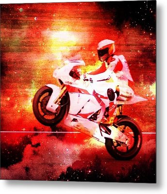 The Morotbike Metal Print by Contemporary Art