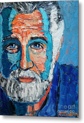 The Most Interesting Man In The World Metal Print by Ana Maria Edulescu