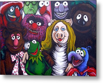 The Muppets Tribute Metal Print by Sam Hane