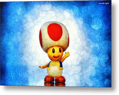 The Mushroom 56 - Da Metal Print by Leonardo Digenio