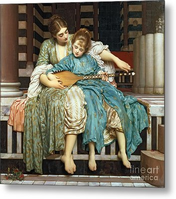 The Music Lesson Metal Print by Frederic Leighton