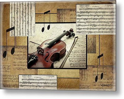 The Music Lover Metal Print