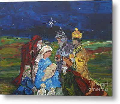 The Nativity Metal Print by Reina Resto