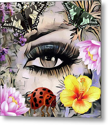 The Nature Girl Metal Print