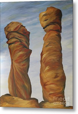 The Needles Chiriahua Metal Print by Christiane Schulze Art And Photography