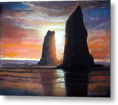 Metal Print featuring the painting The Needles by Chriss Pagani