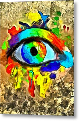 The New Eye Of Horus 2 - Da Metal Print by Leonardo Digenio