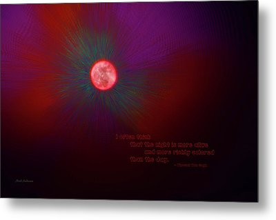 The Night Is More Alive Metal Print by Mick Anderson