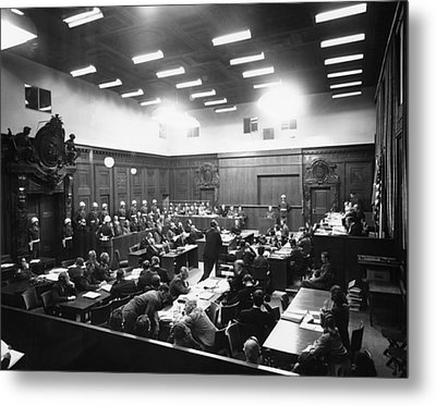 The Nuremberg Trials. The Palace Metal Print by Everett