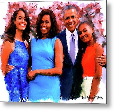 The Obama Family Metal Print