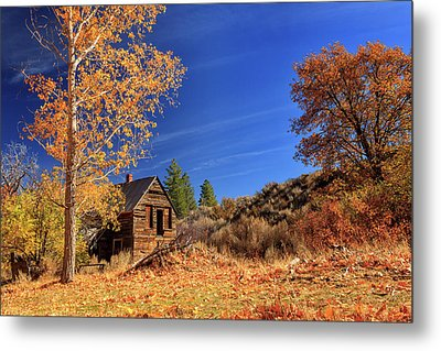 The Old Bunkhouse Landscape Metal Print by James Eddy